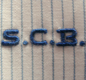 hand-embroidered monogram